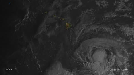 A-Weather-Map-Tracks-Hurricane-Ana-As-It-Approaches-Hawaii-In-2014