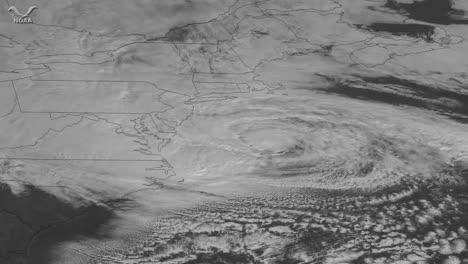 Un-Mapa-Meteorológico-Rastrea-El-Huracán-Sandy