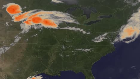 A-Weather-Map-Tracks-A-Very-Large-Storm-Moving-Towards-The-East-Coast-Of-The-Us