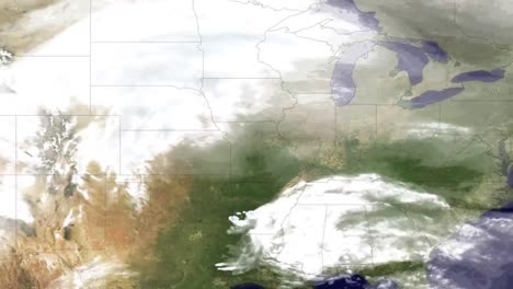 Weather-Report-Style-News-Footage-Of-A-Massive-Blizzard-Striking-The-Central-And-Eastern-Us-In-2011