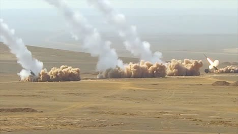 Truck-Based-Anti-Aircraft-Missile-Launchers-Fire-In-The-Desert