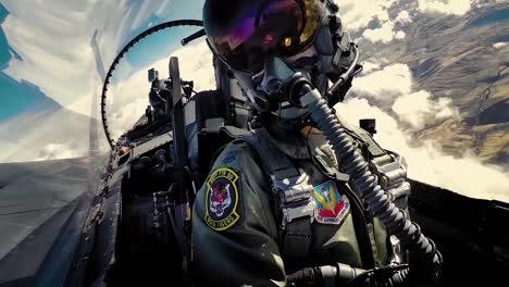 Vista-De-La-Cabina-Interior-De-Un-Piloto-De-Combate-Volando