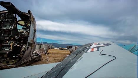 Great-Time-Lapse-Shots-Through-A-Junkyard-Or-Boneyard-Of-Abandoned-Airplanes