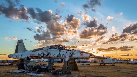 Great-Time-Lapse-Shots-Through-A-Junkyard-Or-Boneyard-Of-Abandoned-Airplanes-1
