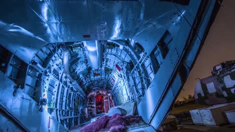 Great-Time-Lapse-Shots-Through-A-Junkyard-Or-Boneyard-Of-Abandoned-Airplanes-At-Night-2