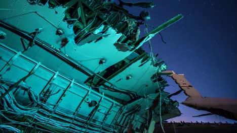 Great-Time-Lapse-Shots-Through-A-Junkyard-Or-Boneyard-Of-Abandoned-Airplanes-At-Night-3