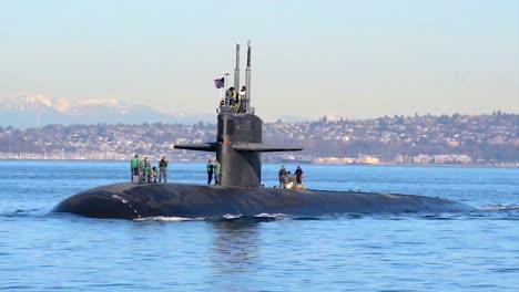 A-Fast-Attack-American-Submarine-Sails-Through-Puget-Sound