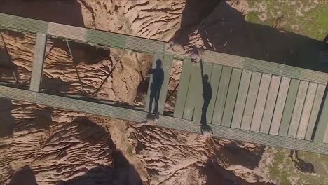 Aerial-Over-Marines-As-They-Build-A-Bridge-By-Hand