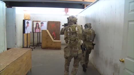 Troops-Practice-Urban-Warfare-And-Hostage-Rescue-In-A-Mock-Village