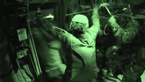 Paratroopers-Jump-From-A-Plane-At-Night-In-Night-Vision-1