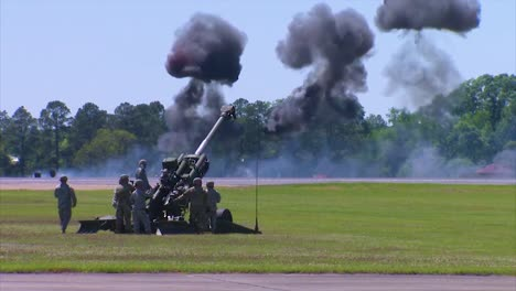 Huge-Explosions-Accompany-An-Artillery-Display-By-The-Us-Army