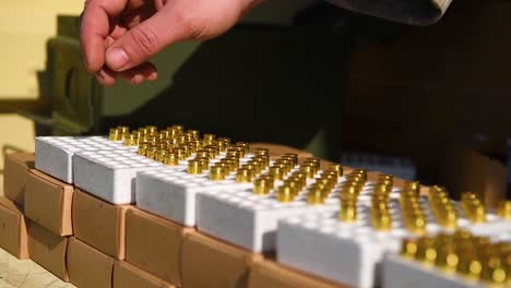Guns-And-Bullets-Are-Prepared-For-A-Shooting-Competition
