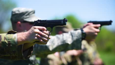Army-Soldiers-Are-Trained-In-The-Use-Of-Pistols