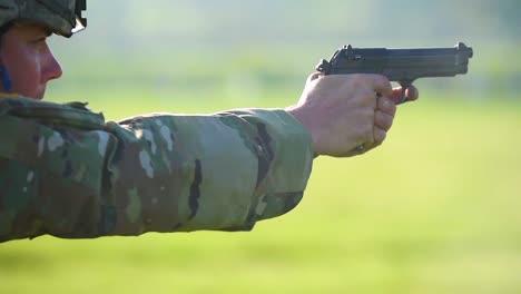 A-Soldier-Fires-His-Handgun
