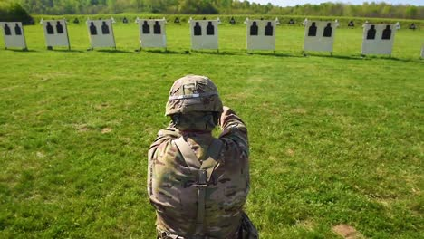 A-Soldier-Fires-A-Pistol-During-A-Target-Practice-Marksmanship-Competition-1