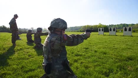 Soldiers-Fire-Pistols-During-A-Target-Practice-Marksmanship-Competition