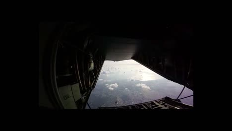 Paratroopers-Jump-From-A-Plane