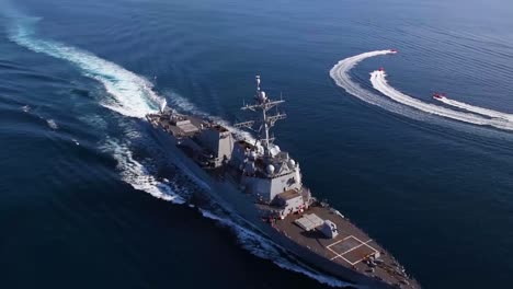 Aerials-Over-A-Us-Carrier-Strike-Group-At-Sea