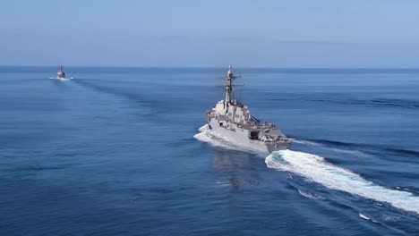 Aerials-Over-A-Us-Carrier-Strike-Group-At-Sea-1