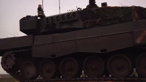 A-Canadian-Army-Tank-Passes-At-A-Low-Angle
