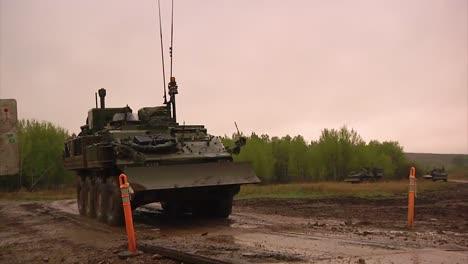 An-Canadian-Army-Tank-Crosses-A-Bridge