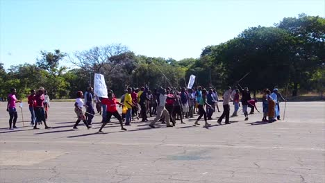 African-Policía-And-Military-Train-To-Suppress-Terrorism-Rioting-And-Uprising