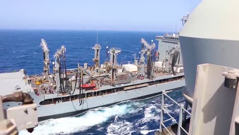 The-Us-Navy-Conducts-A-Replenishment-At-Sea-Operation