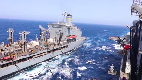 The-Us-Navy-Conducts-A-Replenishment-At-Sea-Operation-1