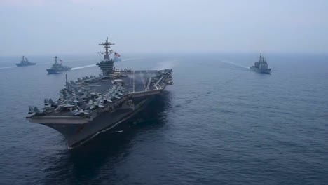 An-Aerial-Over-The-Us-Carl-Vinson-Strike-Group-Moving-Across-The-Sea-Of-Japan-2