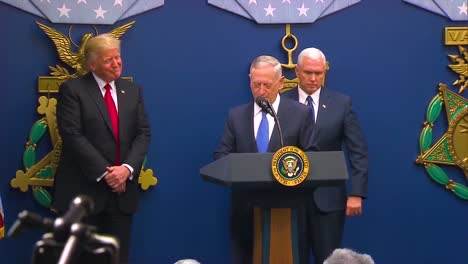 General-James-Jim-Mattis-Is-Sworn-In-As-American-Secretary-Of-Defence-With-President-Donald-Trump-And-Mike-Pence-Present-2