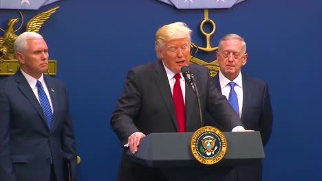 President-Donald-Trump-Makes-Remarks-At-The-Swearing-In-Ceremony-Of-General-Jim-Mattis-At-The-Department-Of-Defense-2