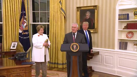 Us-Secretary-Of-State-Rex-Tillerson-Speaks-At-His-Swearing-In-Ceremony-In-The-White-House-With-Vice-President-Pence-And-President-Trump-Looking-On