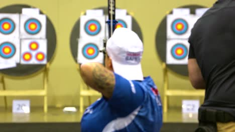 Disabled-And-Handicapped-Veteran-Soldiers-Compete-In-Archiery-In-The-Air-Force-Wounded-Warrior-Games-3