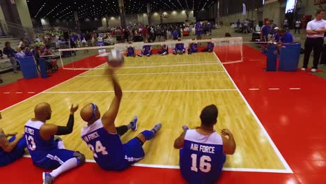 Handicapped-And-Disabled-Veteran-Soldiers-Compete-In-Volleyball-In-The-Air-Force-Wounded-Warrior-Games