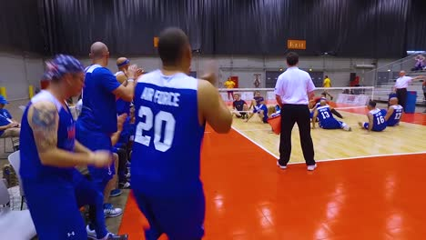 Handicapped-And-Disabled-Veteran-Soldiers-Compete-In-Volleyball-In-The-Air-Force-Wounded-Warrior-Games-2