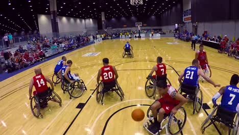 Handicapped-And-Disabled-Veteran-Soldiers-Compete-In-Wheelchair-Basketball-In-The-Air-Force-Wounded-Warrior-Games