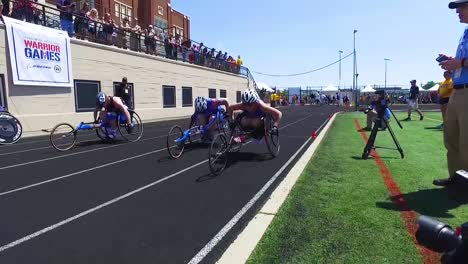 Handicapped-And-Disabled-Veteran-Soldiers-Compete-In-Track-And-Field-Wheelchair-Races-In-The-Air-Force-Wounded-Warrior-Games