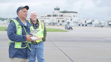 Field-Investigators-From-The-Ntsb-Use-A-Drone-To-Document-The-Wreckage-Of-A-Cargo-Plane-Crash-At-Charleston-Yeager-Airport