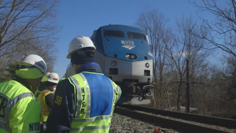Field-Investigators-From-The-Ntsb-Investigate-An-Amtrak-Train-Crash-Collision-With-Garbage-Truck-In-Virginia