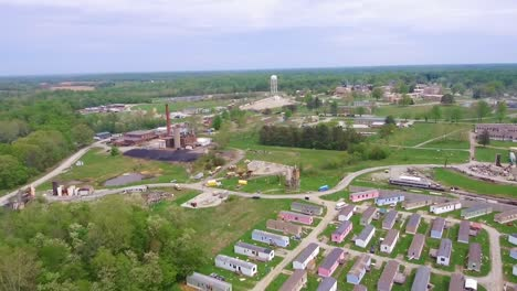 A-Flyaround-View-Of-Muscatatuck-Urban-Training-Center-A-National-Guard-Facility-Is-Shown-In-Butlerville-Indiana