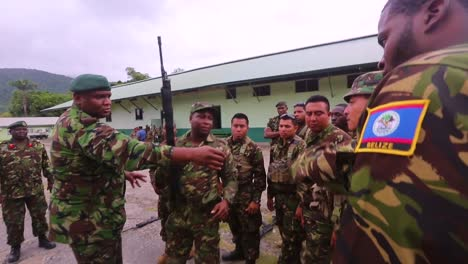 Men-Of-The-Belize-Defence-Force-Are-Acquainted-With-The-Weapons-They-Will-Use-For-Exercise-Tradewinds