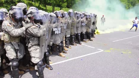 The-North-Carolina-National-Guard-Military-Police-Stage-A-Simulated-Riot-At-Western-Carolina-University