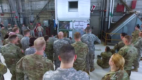 American-Soldiers-Are-Briefed-On-A-Training-Exercise-At-The-Wrightpatterson-Air-Force-Base