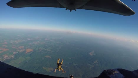 Slowmotion-Footage-Shot-From-Inside-The-Plane-Shows-Special-Tactics-Airmen-Performing-Halo-Jumps-From-An-Mc130H