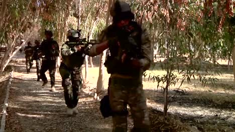 Los-Comandos-Afganos-Se-Someten-A-Un-Ejercicio-De-Entrenamiento-En-Un-Bosque
