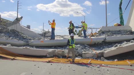 Ntsb-Inspectors-Look-At-The-Collapse-Of-A-Pedestrian-Bridge-Onto-Traffic-At-Florida-International-University-3