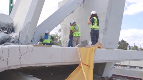 Ntsb-Inspectors-Look-At-The-Collapse-Of-A-Pedestrian-Bridge-Onto-Traffic-At-Florida-International-University-6