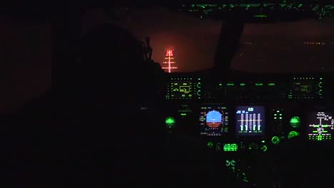 Footage-Shows-The-View-From-The-Cockpit-As-C17-Lands-In-Kuwait