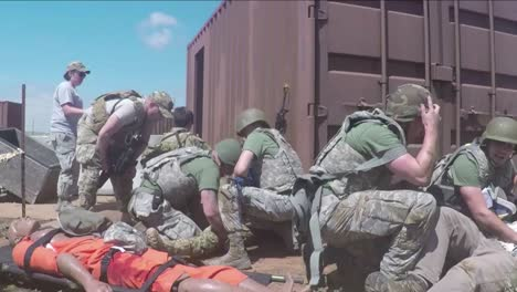 As-Part-Of-A-Training-Exercise-At-Cannon-Afb-Airmen-Fight-Off-Insurgents-While-Also-Trying-To-Protect-A-Wounded-Comrade