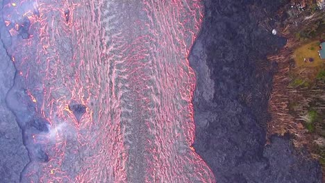 Good-Straight-Down-Perspective-Helicopter-Aerial-Of-The-Eruption-Of-The-Kilauea-Volcano